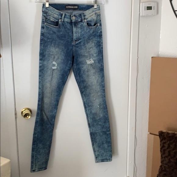 Express Denim - Blue acid wash jeans
